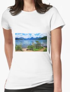 McDonald Lake, Glacier National Park Womens Fitted T-Shirt
