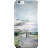 Cuckmere Haven, A study in greys. iphone cover iPhone Case/Skin