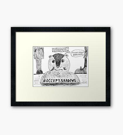 OccupyShadows on Groundhog Day cartoon Framed Print