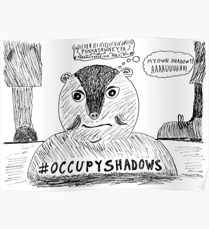 OccupyShadows on Groundhog Day cartoon Poster