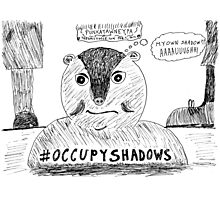 OccupyShadows on Groundhog Day cartoon Photographic Print