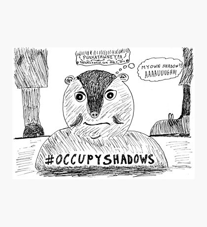OccupyShadows on Groundhog Day cartoon Photographic Print