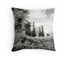 Victorian Graveyard Throw Pillow