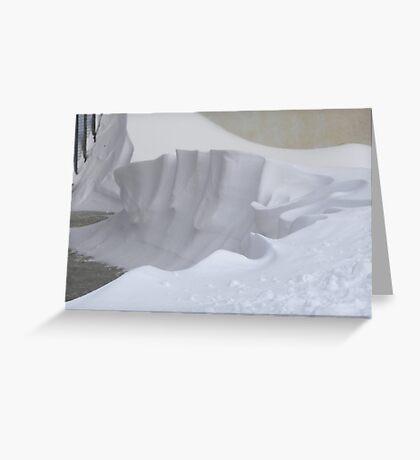 Snow sculpture Greeting Card