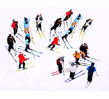 Young Skiers Photographic Print