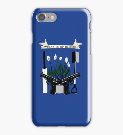 Weapons Of Choice (Pegg,Frost,Wright) iPhone Case/Skin