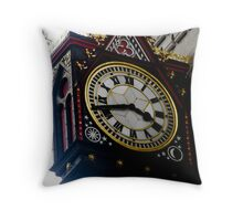 Time waits for no one in Fleet Street Throw Pillow