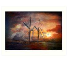 Singing sails...... Art Print