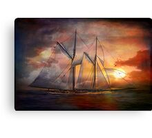 Singing sails...... Canvas Print