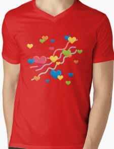 Hearts Mens V-Neck T-Shirt