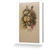 Zombie Piggy Greeting Card