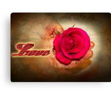 A ribbon of Love Canvas Print