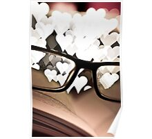 He ❤s Books Poster