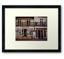 Ice Cream and Coffee, Sidmouth Framed Print