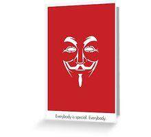 V for Vendetta Mask Greeting Card
