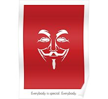 V for Vendetta Mask Poster