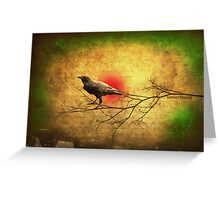 Raven Heart Greeting Card