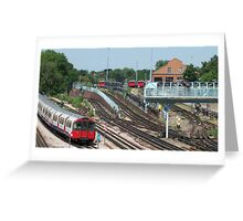 London Underground Trains Greeting Card