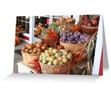 Fruit Baskets on Display Greeting Card
