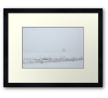 Lone Tree in Snow Framed Print