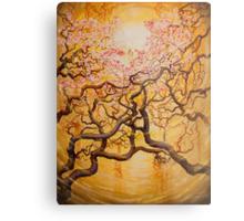 Sun and Sakura Metal Print