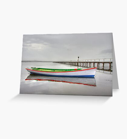 Long Jetty boat Greeting Card