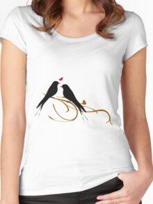 Bird Love Women's Fitted Scoop T-Shirt