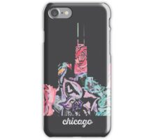 Chicago Floral Skyline Print iPhone Case/Skin