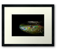 Abstract light in Dark room on a drop Framed Print