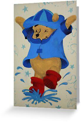 Splashing Winnie The Pooh by Laura Mancini