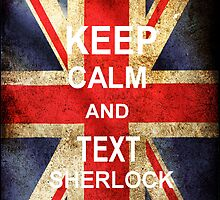 Keep calm and Text Sherlock by Nienke van Baal