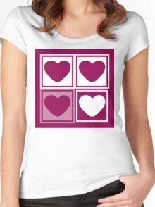 Big Love Heart - Art deco T-shirt Women's Fitted Scoop T-Shirt