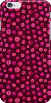 Red Pomegranate Pattern by kotopes