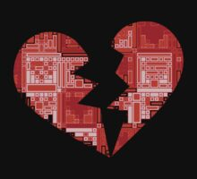 Broken puzzle heart T-shirt by Nhan Ngo