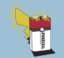 Pokecell Pikachu Battery Kids Tee