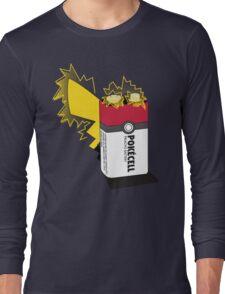 Pokecell Pikachu Battery Long Sleeve T-Shirt