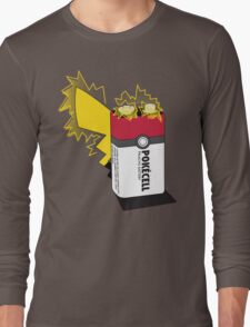 Pokecell Pikachu Battery Long Sleeve T-Shirt