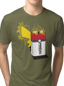 Pokecell Pikachu Battery Tri-blend T-Shirt