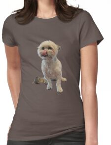 Cute licking puppy. Womens Fitted T-Shirt