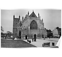 Exeter Cathedral Green In Winter Poster