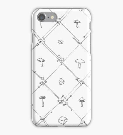 Gem and Mushroom Geometry iPhone Case/Skin