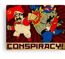 Stalin Is Mario! Canvas Print