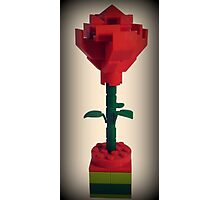 Lego Rose Photographic Print