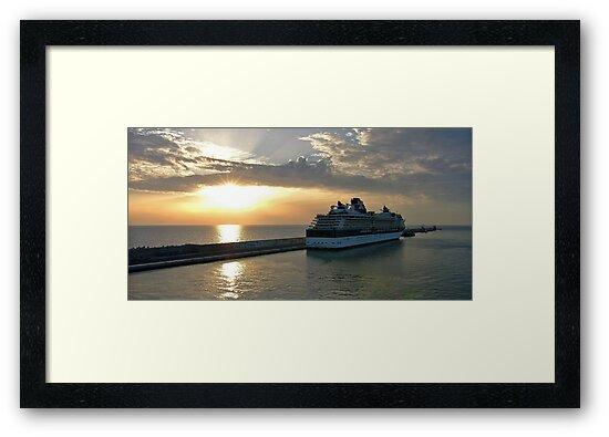 Civitavecchia Harbour by Tom Gomez