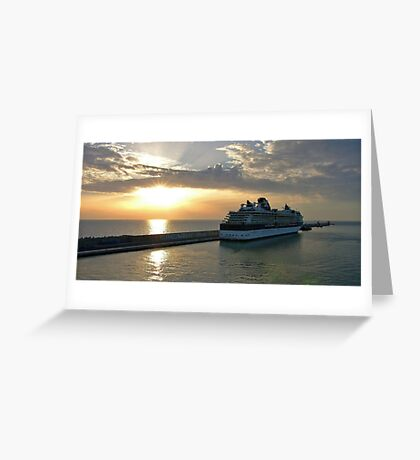 Civitavecchia Harbour Greeting Card