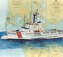 USCGC Alert Nautical Chart Map Cathy Peek  by Cathy Peek