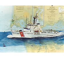 USCGC Alert Nautical Chart Map Cathy Peek  Photographic Print