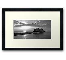 Civitavecchia Harbour - B&W Framed Print