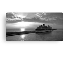 Civitavecchia Harbour - B&W Canvas Print