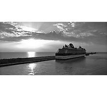 Civitavecchia Harbour - B&W Photographic Print